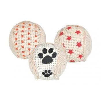 Trixie / Трикси Джутовый мячик Rattle, пластик, ? 5 см, 3 шт.