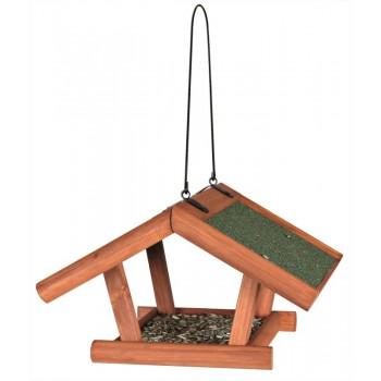 Trixie / Трикси Кормушка для птиц подвесная, дерево, 30х18х28 см, коричневый
