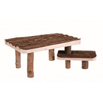Trixie / Трикси Площадка деревянная со ступеньками, 37 x 17 x 28 см