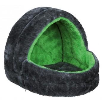 Trixie / Трикси Лежак для мелких животных, 25 х 25 х 29 см, плюш, серый/зелёный