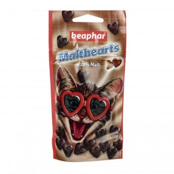 Beaphar / Беафар Лакомство «Malt-Heart» для выведения шерсти из желудка «Сердечки» д/кошек, 150 шт
