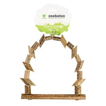 ZooBaloo Игрушка для птиц качели из брусочков средняя L: 23х15 см