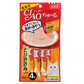 Inaba Чао Чуру пюре для кошек парное филе курицы, 56 гр