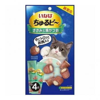 Inaba Чуру-Би запеч.трубочки для кошек из желтопер.тунц.с пюре тунца, 40 гр