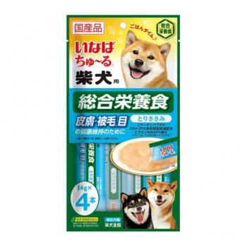 Inaba Чао Чуру пюре для собак для Шиба-ину, уход за шерстью, 56 гр