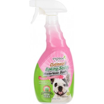 "Espree / Эспри Очищающее средство ""Овес и сода"" для шерсти собак. Oatmeal Baking Soda Waterless Bath, 710 мл"
