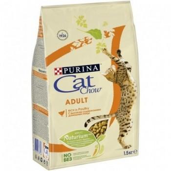 Cat Chow / Кэт Чау сухой корм д/кошек птица, 1,5 кг