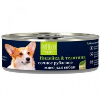 Petibon / Петибон Smart Рубленое мясо д/собак с индейкой и телятиной 100 гр
