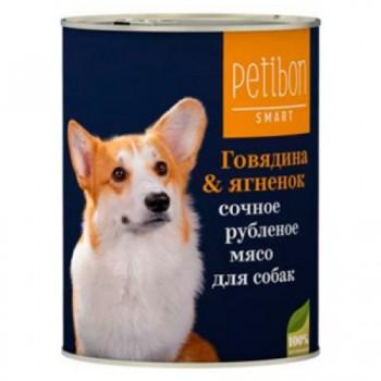 Petibon / Петибон Smart Рубленое мясо д/собак с говядиной и ягненком 410 гр