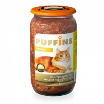 Puffins / Пуффинс кон.д/кошек Курица 650 гр