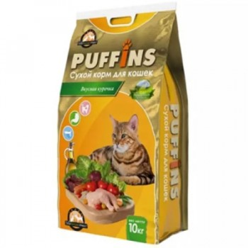 Puffins / Пуффинс сух.корм д/кошек Вкусная курочка 400 гр