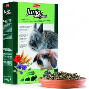 Padovan / Падован Junior Coniglietti корм для молодых декоративных кроликов комплексный основной, 850 гр