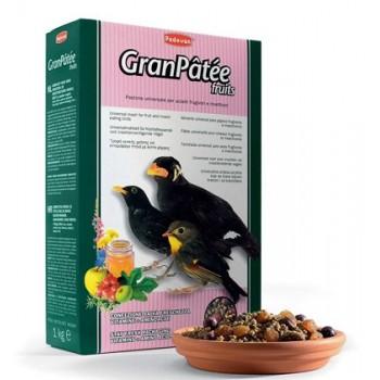 Padovan / Падован Granpatee Fruits корм универсальный для насекомоядных и плотоядных птиц с насекомыми, 1 кг