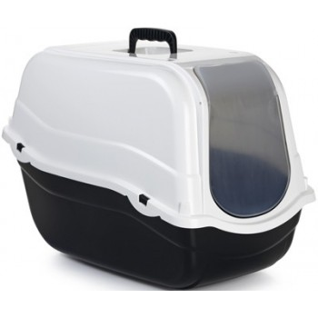 Beeztees / Бизтис 400480 Romeo Туалет-домик д/кошек черно-белый 57*39*41см