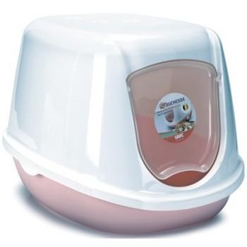 Beeztees / Бизтис 400493 Туалет-домик д/котят бело-розовый 44*35*32см
