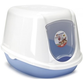 Beeztees / Бизтис 400494 Туалет-домик д/котят бело-синий 44*35*32см