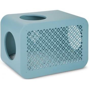 Beeztees / Бизтис 402011 Дом-Куб д/кошки для сна голубой 49*29*33см