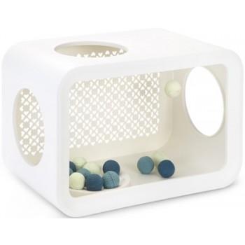 Beeztees / Бизтис 402016 Дом-Куб д/кошки для игры белый 49*29*33см
