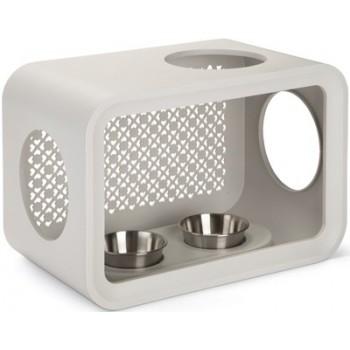 Beeztees / Бизтис 402025 Дом-Куб д/кошки обеденный стол светло-серый 49*29*33см