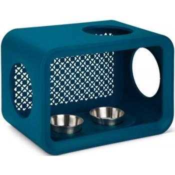 Beeztees / Бизтис 402026 Дом-Куб д/кошки обеденный стол темно-синий 49*29*33см