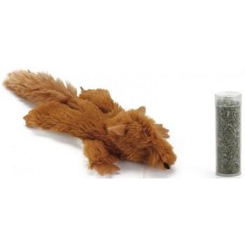 Beeztees / Бизтис 440551 Игрушка д/кошек Белка с кошачьей мятой, коричневая, плюш 14см