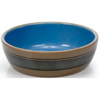 Beeztees / Бизтис 451575 Миска д/кошек керамическая с полосками 12,5см