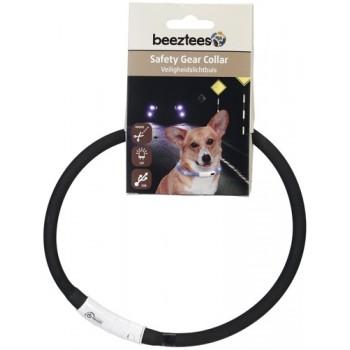 Beeztees / Бизтис 749851 Ошейник д/собак силиконовый светящийся с USB черный 70см*10мм