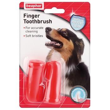 Beaphar / Беафар Зубная щетка двойная на палец, д/собак