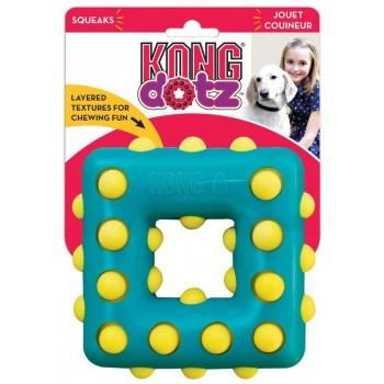 Kong / Конг игрушка для собак Dotz квадрат большой 13 см
