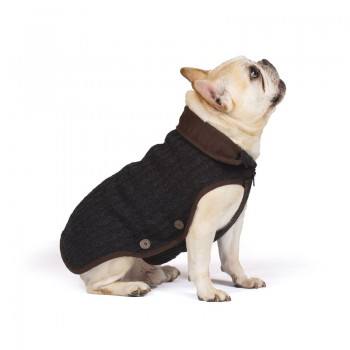 "Dog Gone Smart / Дог Гон Смарт Вязаная нано куртка Nano Knit Sweater, размер 14"", серый"