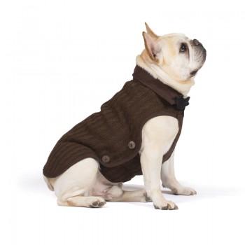 "Dog Gone Smart / Дог Гон Смарт Вязаная нано куртка Nano Knit Sweater, размер 18"", коричневый"