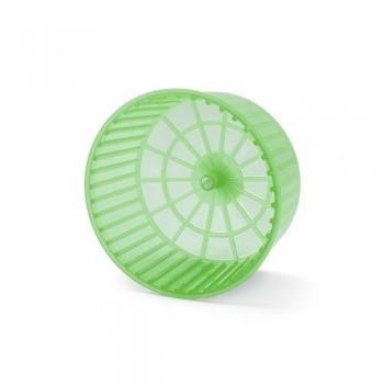 Imac / Имак колесо д/грызунов пластм.RUOTA CHIUSA,цвет mix прозрачный(оранжевый или зеленый) 15х10см