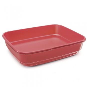 Imac / Имак туалет д/кошек FELIX, красный, 49,5х39х12 см