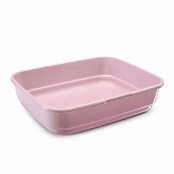 Imac / Имак туалет д/кошек FELIX, пепельно-розовый, 49,5х39х12 см