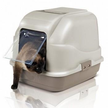 Imac / Имак туалет д/кошек закрытый MY CAT, бежево-серый, 50х40х40 см