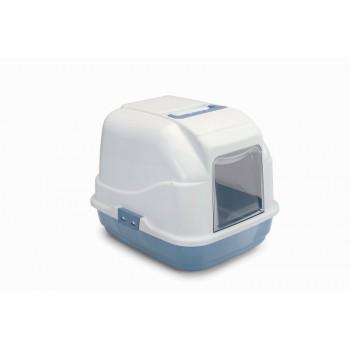 Imac / Имак туалет д/кошек закрытый MY CAT, пепельно-синий, 50х40х40 см