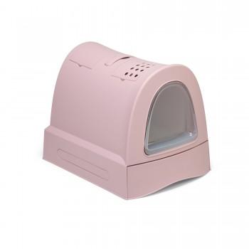 Imac / Имак туалет д/кошек закрытый ZUMA, пепельно-розовый, 40х56х42,5 см