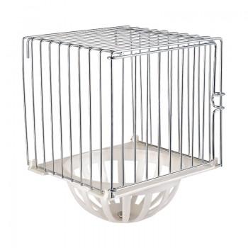 Imac / Имак гнездо д/птиц NIDO FERRO, закрытое, подвесное, оцинк./белый, 12х11х15 см