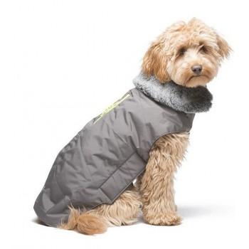 Dog Gone Smart / Дог Гон Смарт Куртка зимняя с мех. воротником и жёлтой молнией Tamarack Jacket,р. 35,5,серый