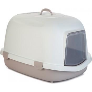 Beeztees / Бизтис 400370 Queen Туалет-домик д/кошек бело-розовый 55*71*46,5см