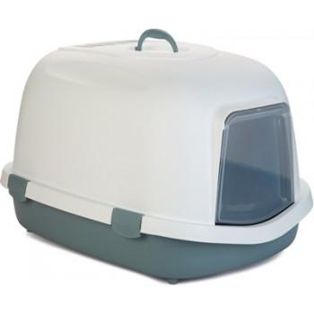 Beeztees / Бизтис 400371 Queen Туалет-домик д/кошек бело-голубой 55*71*46,5см
