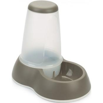 Beeztees / Бизтис 650042 Миска-дозатор для воды серая, большая, пластик 3л