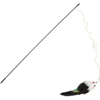 Beeztees / Бизтис 430418 Игрушка д/кошек Удочка с меховой мышкой 36*45см