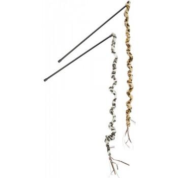 Beeztees / Бизтис 430414 Игрушка д/кошек Удочка с хвостом сафари, в ассорт. 70см