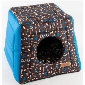 Katsu / Катсу HOPI DOGS 40х40х35 см домик-трансформер для животных синий