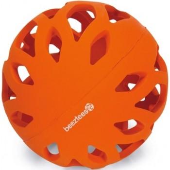 """Beeztees / Бизтис 626825 KOKO Игрушка д/собак """"Мяч"""" ажурный резиновый, оранжевый 8 см"""