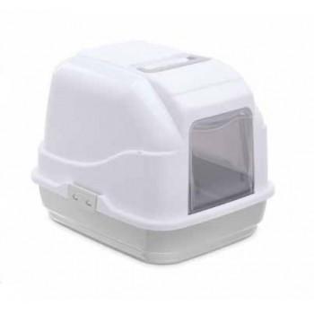 Imac / Имак туалет д/кошек закрытый MY CAT,  бело-серый, 50х40х40 см