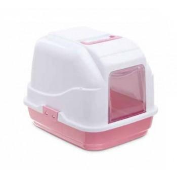 Imac / Имак туалет д/кошек закрытый MY CAT, бело-розовый, 50х40х40 см