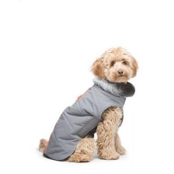 Dog Gone Smart / Дог Гон Смарт Куртка зимняя с мех. воротником и оранжевым кантом Tamarack Meteor,р. 25,4,серый