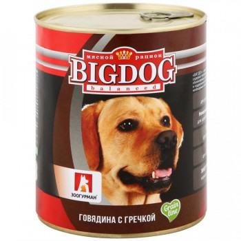 Зоогурман BIG DOG кон.д/собак Говядина с гречкой 850 гр